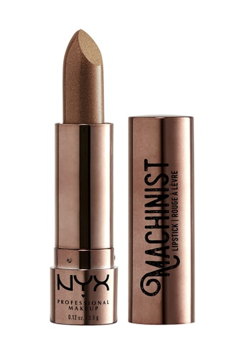 NYX Professional Makeup brown NYX Professional Makeup Machinist Metallic Lipstick 01 Grind (Metallic Honey Bronze) 90F29BEB88F7F4GS_1