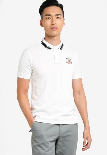 MILANO white Short Sleeve Polo Shirt MI248AA88LGXMY_1