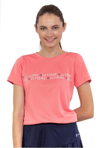 Huitieme pink HUITIÈME DRI FIT GRAPHIC DESIGN PINK TEE. 8A97BAA5A01D9AGS_1