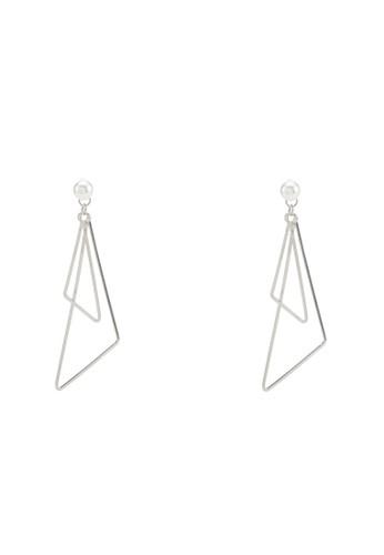 三角esprit官網鏤空珍珠耳墜, 飾品配件, 耳釘