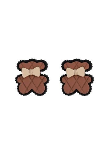 Kings Collection brown Cute Bear earrings (KJEA20089) E4EBDAC9F22BA6GS_1