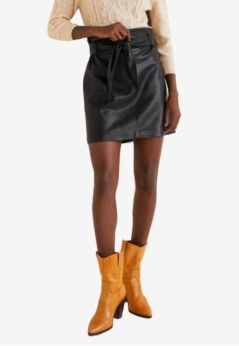 MANGO black Decorative Bow Skirt E42FFAA39EE1EEGS_1
