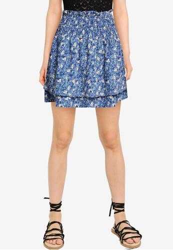 Vero Moda blue Ellie Short Skirt BC1EBAA1FE32BBGS_1