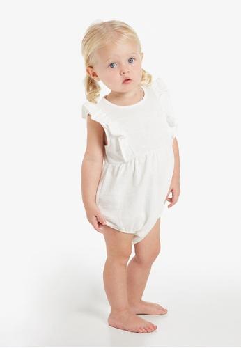 Gen Woo white Ruffle Baby  Romper 3ED48KA4B02A60GS_1