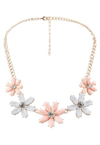 雙色zalora taiwan 時尚購物網鞋子花飾項鍊, 飾品配件, 飾品配件
