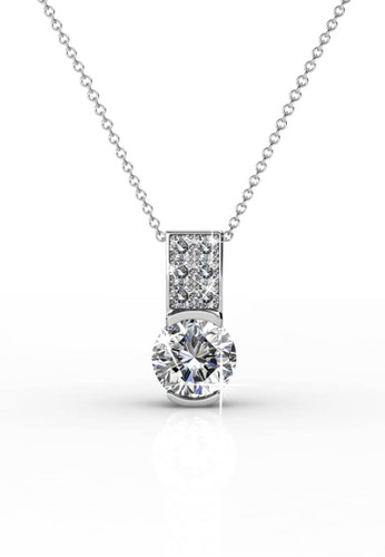 Her Jewellery silver Simply Pendant - Kalung Crystal Swarovski by Her Jewellery 9A84BAC10F4C05GS_1