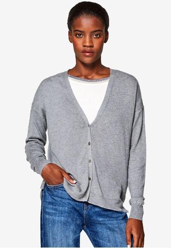 ESPRIT grey Long Sleeve Sweater Cardigan 3DD95AA630F6B7GS_1