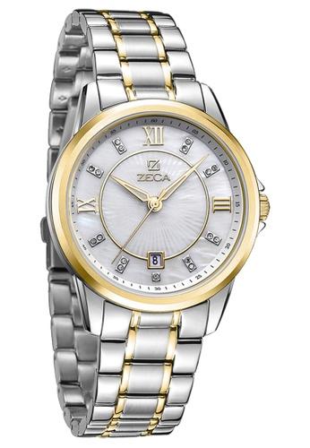 ZECA silver and gold Zeca Watches Couple Ladies Fashion - 308L Gold ZE260AC88SKTSG_1