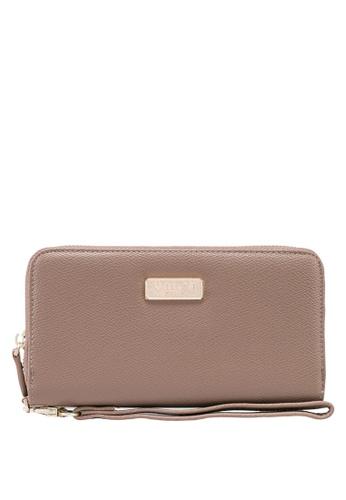 Unisa brown Textured Ladies Zip-Up Wallet 2F2CEACEF01B84GS_1