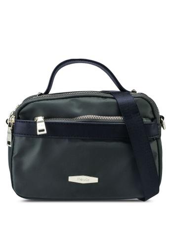 Mel&Co green Nylon Mini Crossbody Bag DDA54AC79758E9GS_1