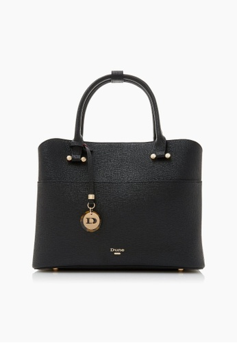 Dune London black Dune London Daring Logo Charm Shopper Bag D9E39AC12079BFGS_1