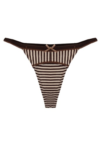 LAVABRA Intimates brown Very Sexy Panty - Dream Angels Super Comfy Modal Side Band Thong LA387US33SMSID_1