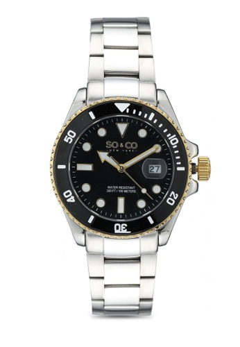 SO&CO black Yacht Timer 5025 0DA98AC9DEF4CAGS_1