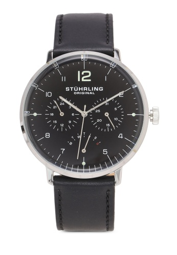 Stuhrling Original black Quartz Multifunction Black Dial Watch 0668EAC32B11CFGS_1