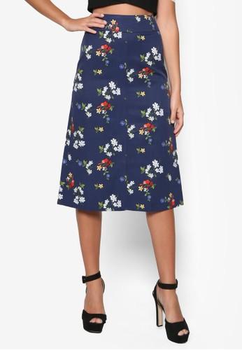 花卉圖案及膝短裙, 服飾, 裙esprit地址子