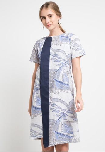 ISVARA BATIK blue and multi Yoja Batik Dress 4FC52AABE51F34GS_1
