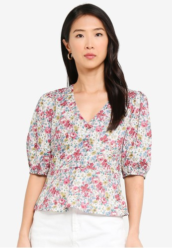 Vero Moda pink Anemone V-neck Top 84444AACE43AA5GS_1
