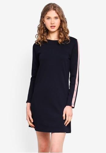 ONLY navy Long Sleeve Dress 144A8AA8DE48C2GS_1