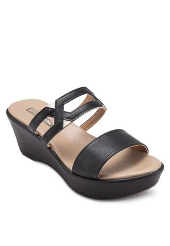 Gianna 鏤空寬帶楔形鞋, 女鞋esprit 香港, 楔形涼鞋