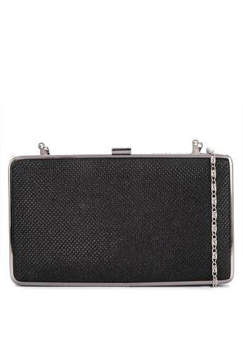Shop Cava Bags Glittery Slim Metal Frame Clutch Online on ZALORA ...