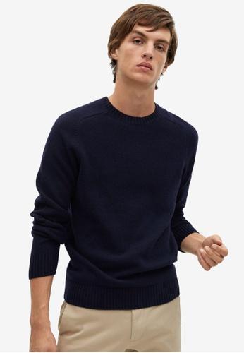 Mango Man blue Cashmere Wool-Blend Sweater AEEDFAA60E69B8GS_1