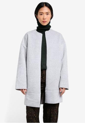 Mango grey Wool-Blend Classic Coat MA193AA0S6JSMY_1