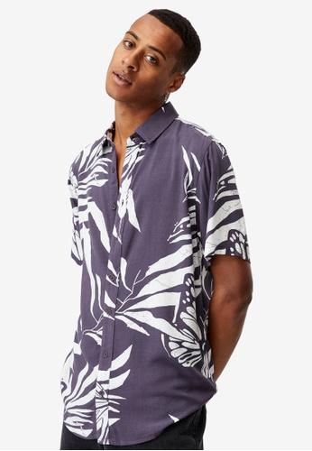 Cotton On grey Short Sleeve Resort Shirt F703BAA6AC8B97GS_1
