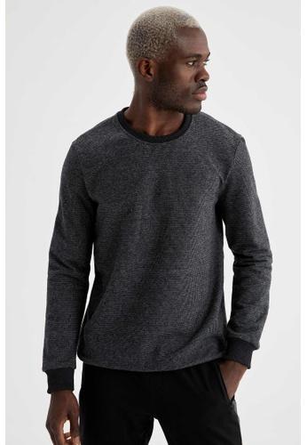 DeFacto grey Man Knitted Sweat Shirt B2450AA07C32F8GS_1