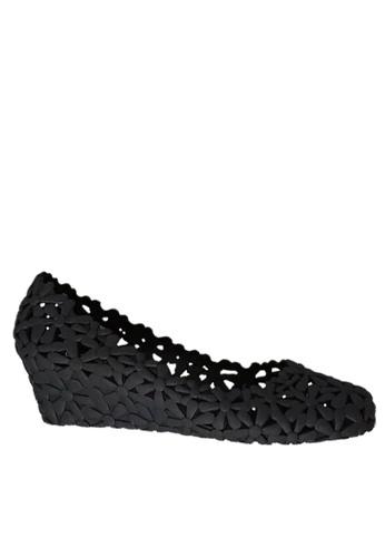 Twenty Eight Shoes 黑色 鏤空果凍膠船跟雨鞋 VR-M801 1446FSHBFF158DGS_1