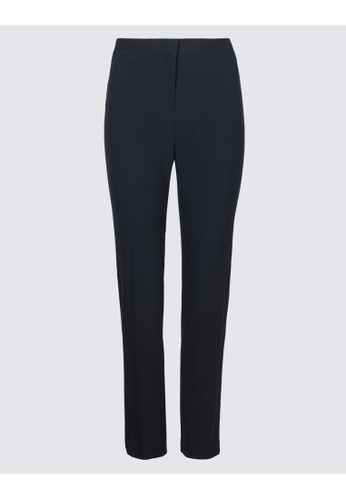 MARKS & SPENCER navy M&S Modern Slim Leg Trousers 46BF9AAA56D3F3GS_1