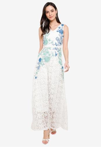 Megane white Red Romance Marice Lace Dress B0647AA8C75378GS_1