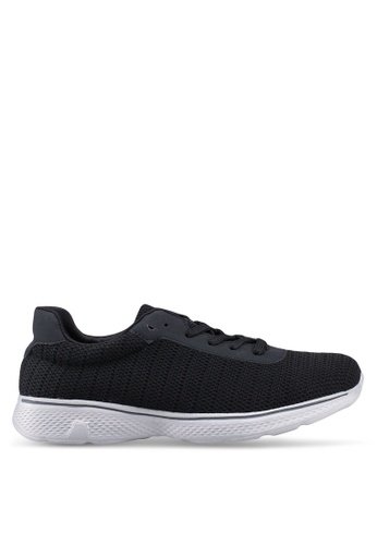 UniqTee 黑色 Lightweight Lace Up Sport Shoes Sneakers 38E3CSH74810AFGS_1