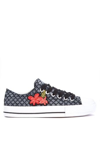 BENCH black Printed Sneakers 34417SH5B7E963GS_1