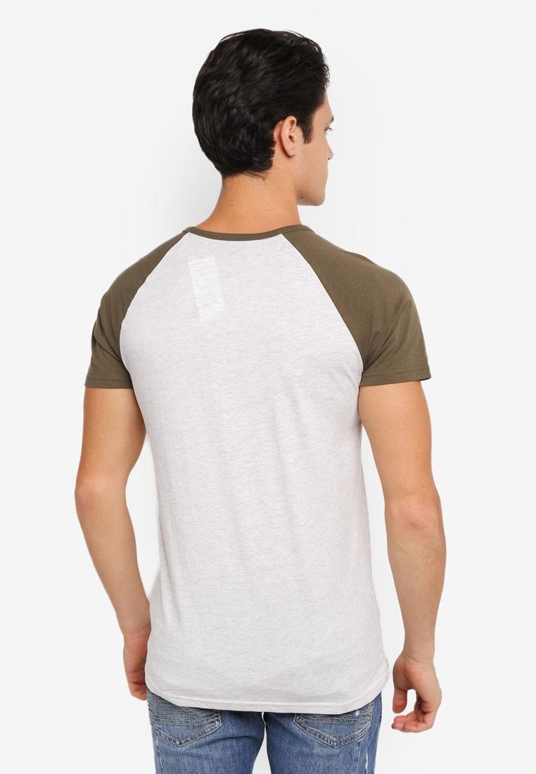 Shirt Short Frost Burton Menswear Tee And Khaki Olive Khaki Raglan Sleeve London YF4qrwY