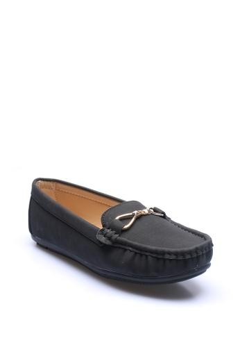 7soles black Verity Ladies Loafers Shoes 83AA6SH47E84C7GS_1