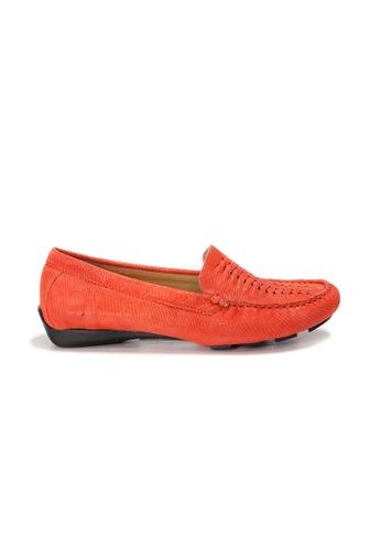 Shu Talk orange AMAZTEP Hollywood Celeb Hot Slip On Comfortable Driving Loafer Shoes (for Wide Feet) 8FB77SHF1052D7GS_1