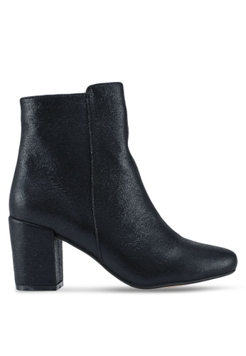 ZALORA 黑色 and 多色 Chunky Heeled Ankle Boots B2225SHF279615GS_1