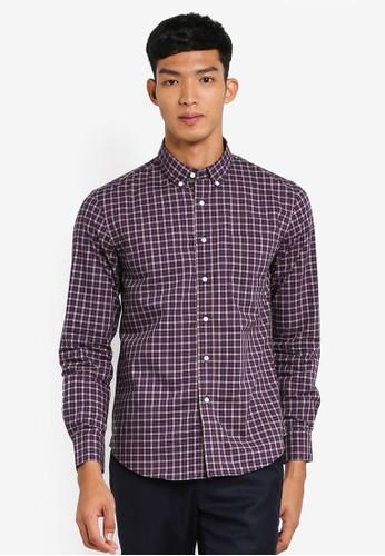 Electro Denim Lab purple Luxurious Poplin Shirt 9675FAAAFDFF4DGS_1