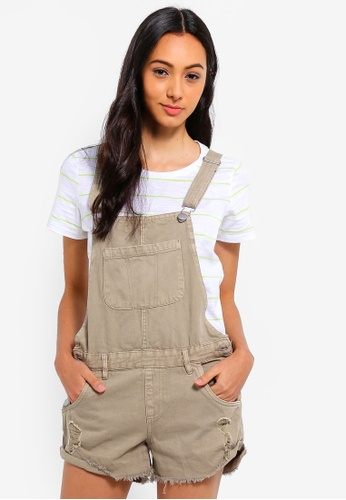 Cotton On brown The Classic Overalls 8A1EAAA6E23FC6GS_1