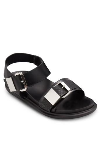 扣esprit outlet台北環蛇紋寬帶涼鞋, 女鞋, 鞋