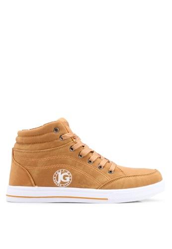 Rocklander brown Matarazo Hi-Top Sneakers 04009SH42EA6D5GS_1