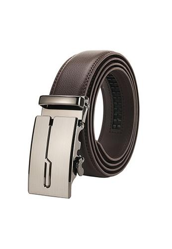 Twenty Eight Shoes brown VANSA Fashion Leather Automatic Buckle Belt  VAM-Bt001 93CF6AC726F900GS_1