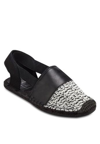 異材質踝帶麻跟鞋, zalora 內衣鞋, 懶人鞋