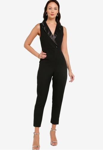 ZALORA OCCASION black Tuxedo Jumpsuit A7263AAA25A347GS_1