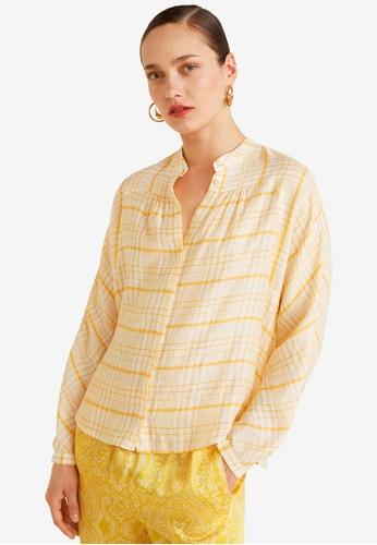MANGO yellow Textured Check Shirt 052E6AA60C9D31GS_1