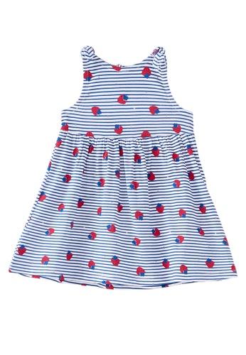 Du Pareil Au Même (DPAM) white Strawberry Dress B56E1KA181F825GS_1