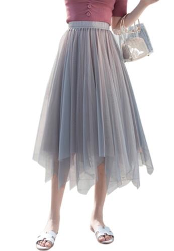 Halo pink Layered Net Yarn Skirt E1F1EAAA102F94GS_1