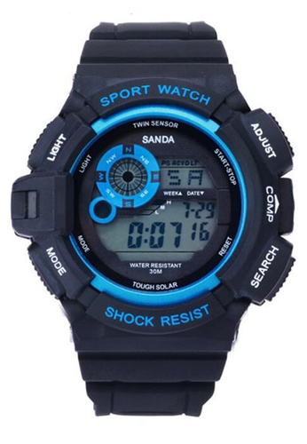 SANDA blue SANDA 302 Waterproof Outdoor Multifunctional Sports Men's Digital Watch (Blue) SA708AC0RXBVMY_1