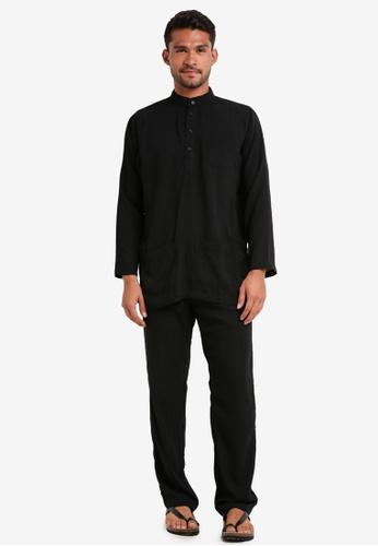 Lubna black Baju Melayu Cekak Musang 1CA82AAE36FE88GS_1