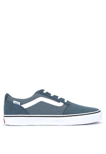 VANS green Suede/Canvas Chapman Stripe Sneakers 238B6SH670C0BFGS_1